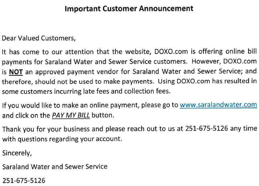 DO NOT PAY WITH DOXO